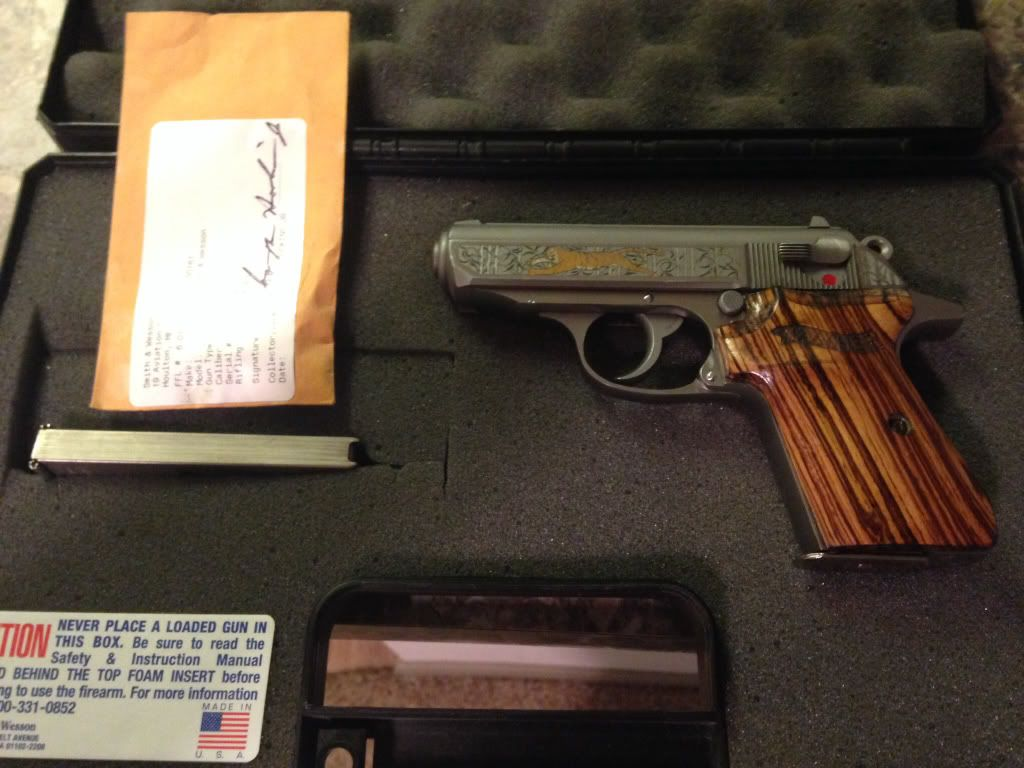 wts wtt walther ppks 380 golden tiger 1 of 1000 talo edition texas