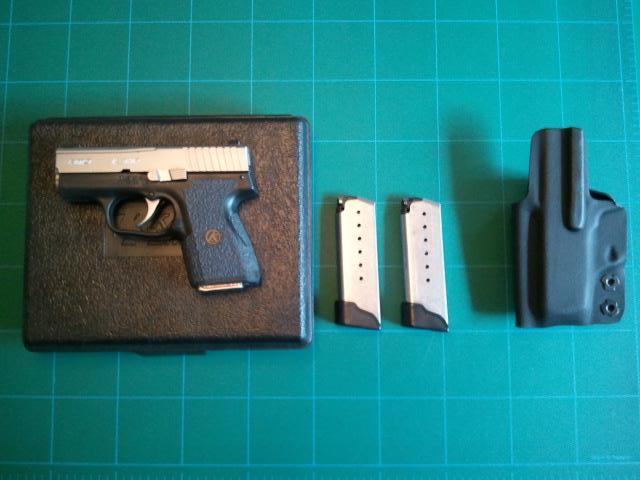 Austin] Kahr PM9 with Night Sights, 3 magazines, comp-tac