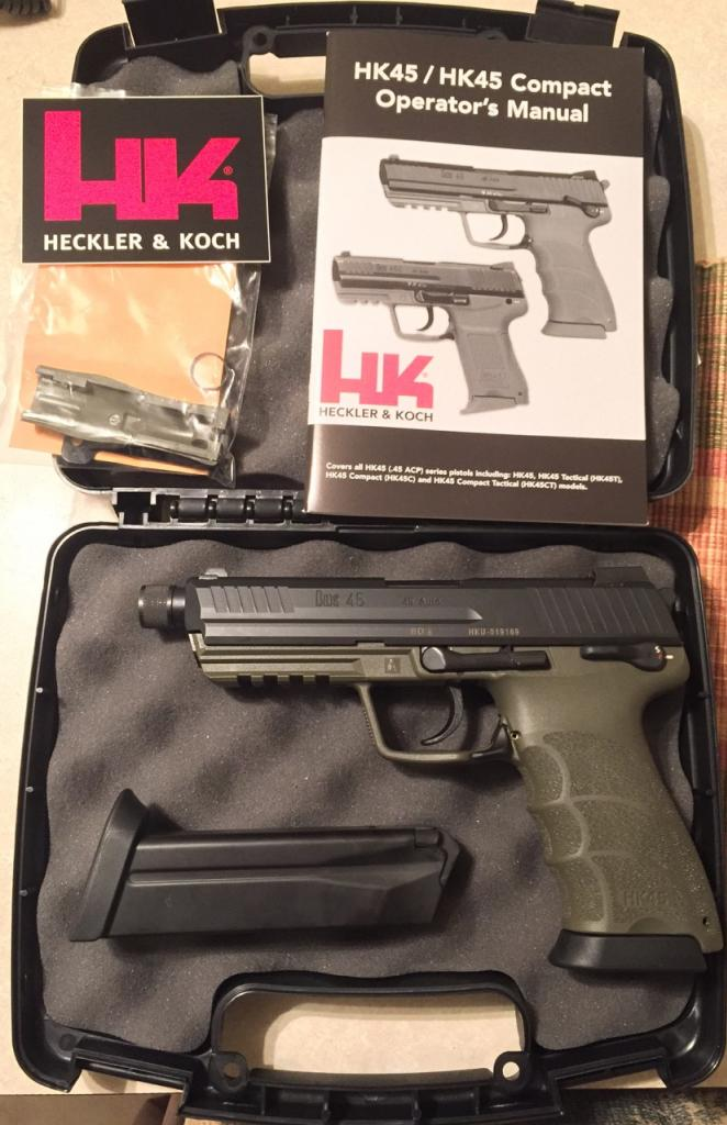 HK45 Tactical w/ threaded barrel and OD green frame [Houston
